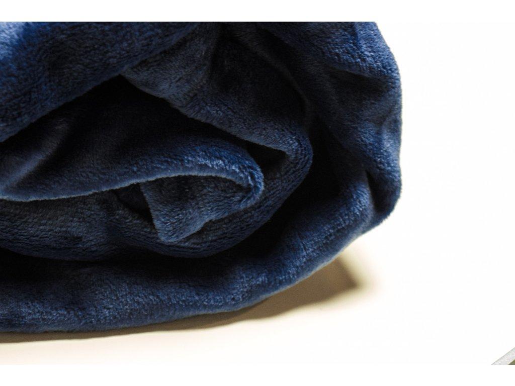 Flísová deka Home Design, tmavo modrá, 140x200 cm