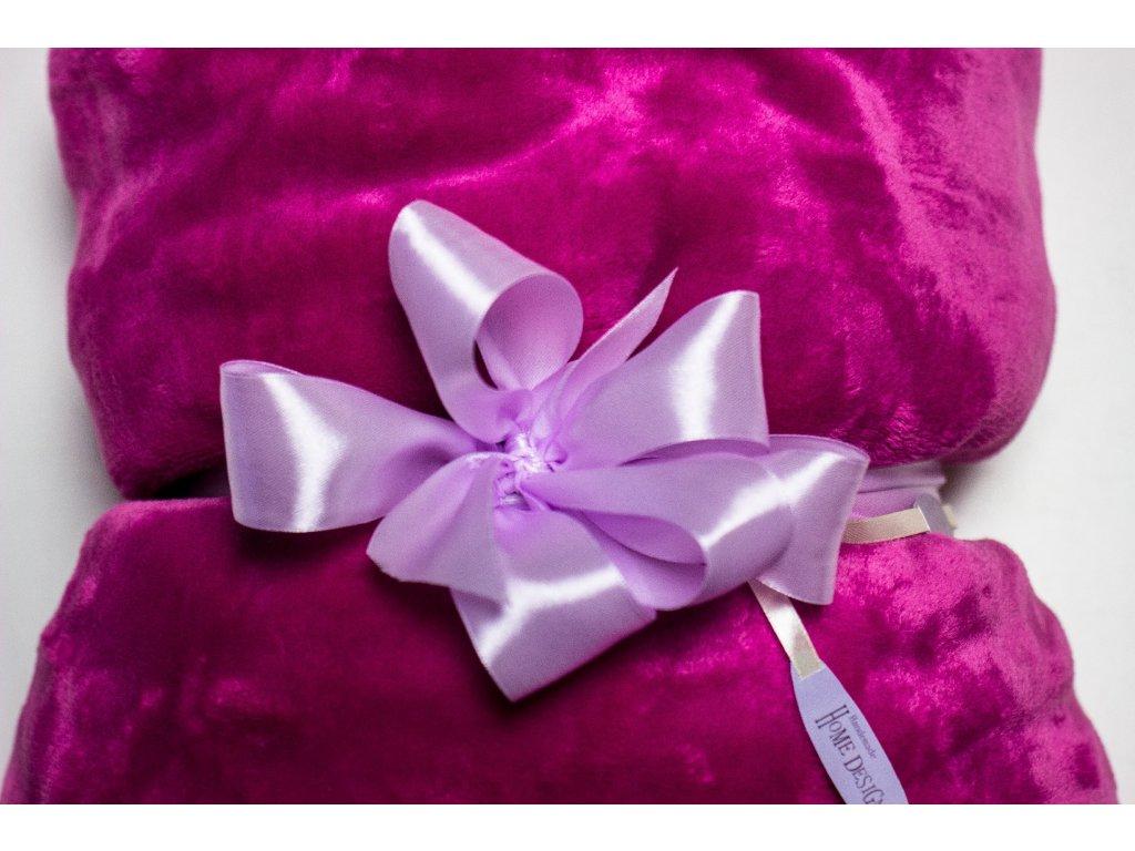 Flísová deka Home Design, ružová fuxiová, 140x200 cm