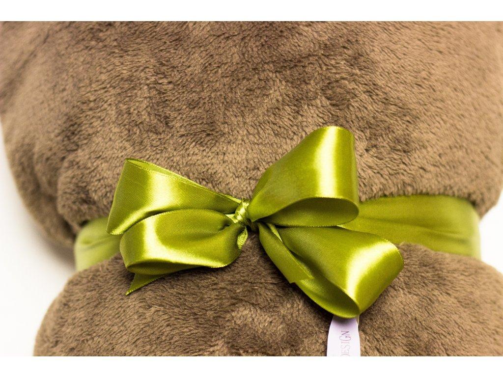 Flísová deka Home Design, bledo hnedá, 140x200 cm