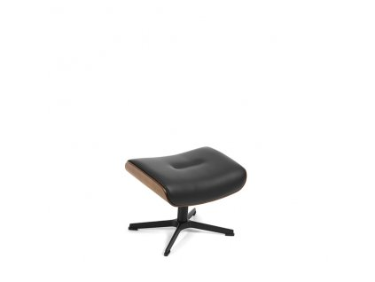 o142 timeout footstool walnut black alufoot