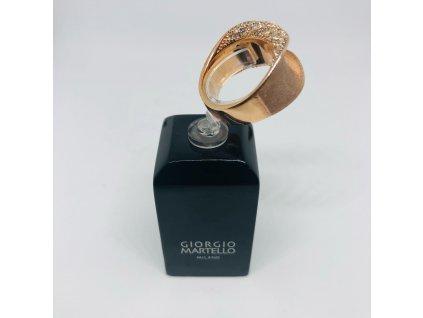 Medený prsteň s kamienkami 1