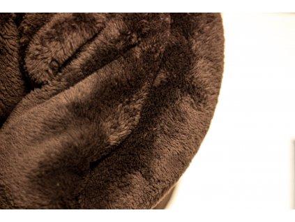 Flísová deka Home Design, hnedá, 140x200 cm