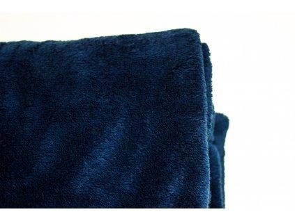 Flísová deka Home Design, tmavá modrá, 140x200 cm
