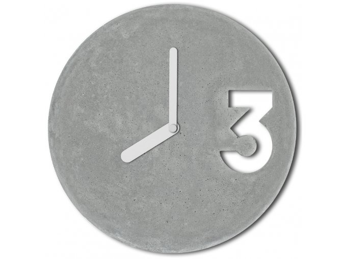 betonove hodiny concrete clock white full velinsky bp