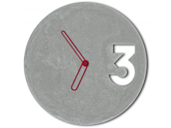 betonove hodiny concrete clock red outline velinsky bp