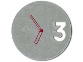 betonove hodiny concrete clock red outline velinsky bp