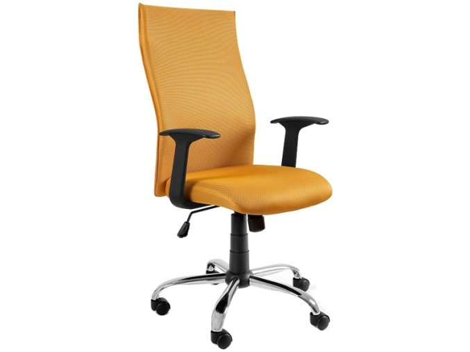Kancelářská židle Step, žlutá - 1