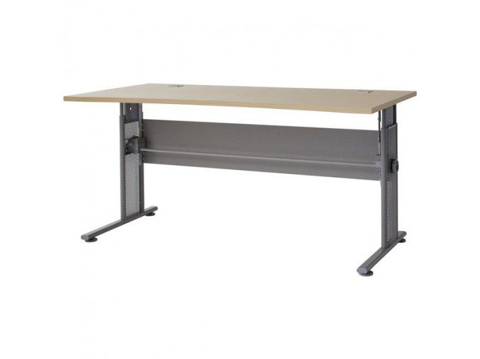 Výškově stavitelný kancelářský stůl GW-Profi, javor/stříbrná - 1