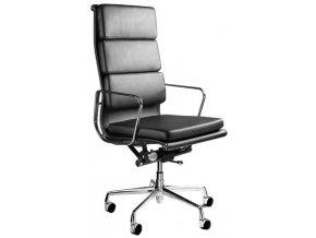 Kancelářská židle UN-604BL, ekokůže - 1