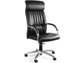 Kancelářská židle UN-521BL, ekokůže - 1