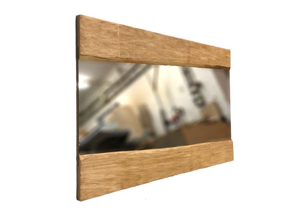 Dřevěné Zrcadlo Julia Strukturované Masivní Dřevo Designová Zrcadla
