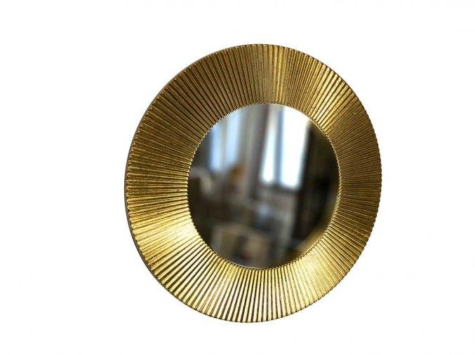 kulate zrcadlo slunce 50cm platkove zlato metal 01
