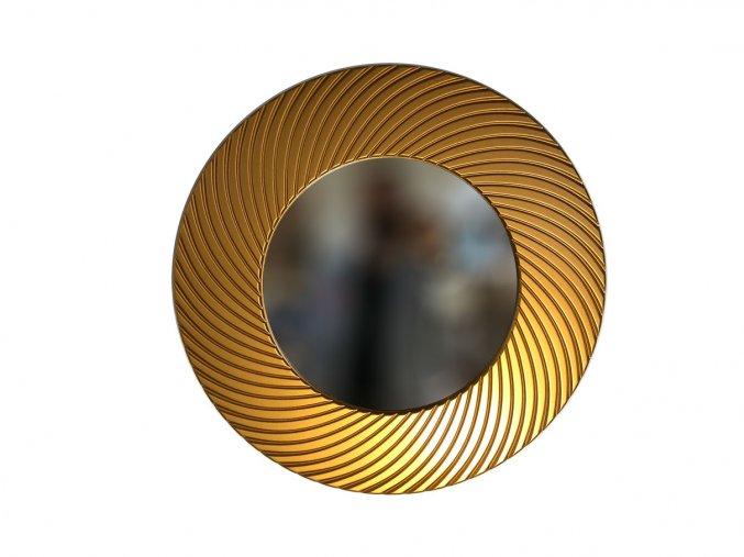kulate zrcadlo diana 50cm bronzova barva 02