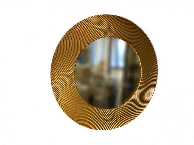 kulate zrcadlo diana 90cm bronzova barva 01