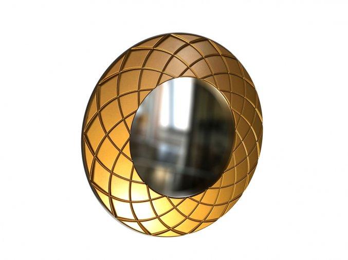 kulate zrcadlo amadeus laura 50cm bronzova barva 01