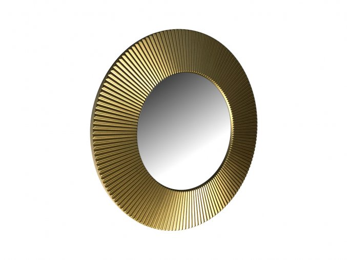 kulate zrcadlo slunce 50cm zlata barva 01