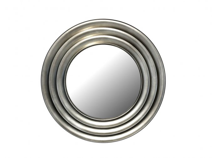 kulate zrcadlo gala 50cm stribrna barva cerna patina 02