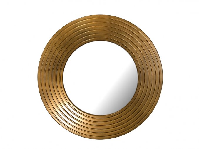 kulate zrcadlo eva 50cm bronzova barva cerna patina 01