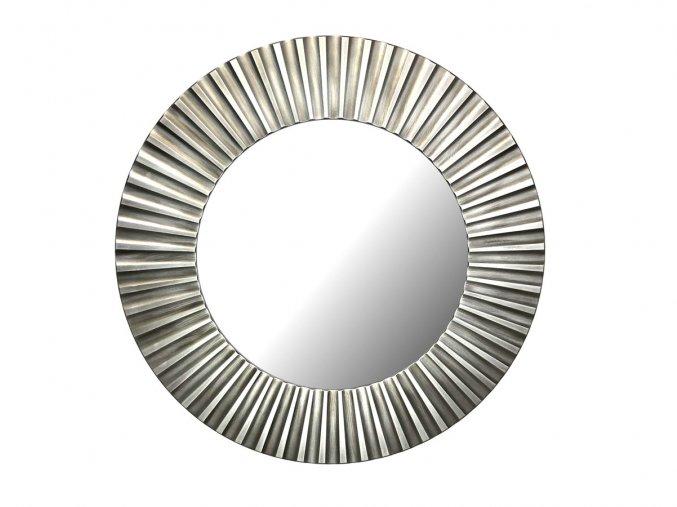 kulate zrcadlo lea 90cm stribrna barva cerna patina 02