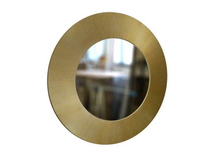 kulate zrcadlo slunce 90cm zlata barva cerna patina 01