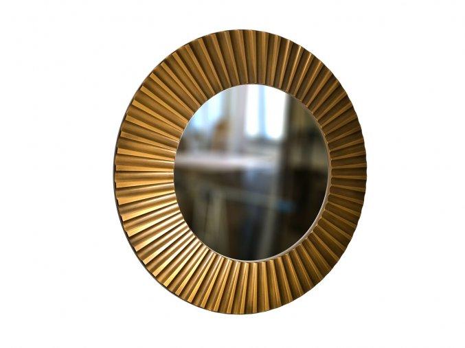 kulate zrcadlo lea 90cm bronzova barva cerna patina 01