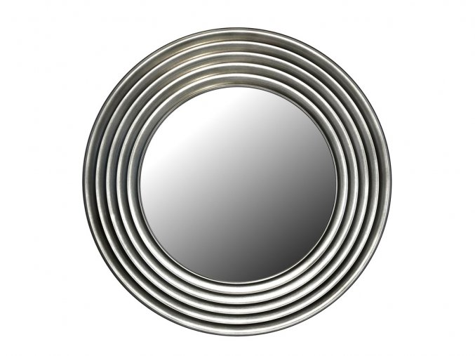 kulate zrcadlo gala 90cm stribrna barva cerna patina 02