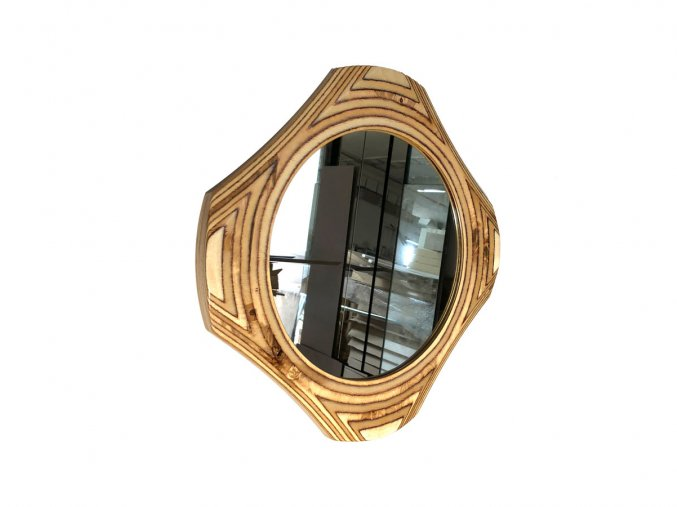 drevene kulate zrcadlo viola 50cm 01