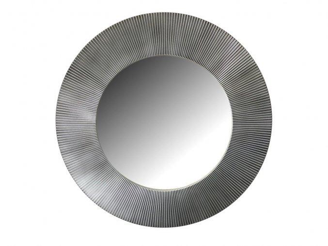 kulate zrcadlo slunce 90cm stribrna barva cerna patina 02