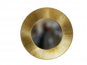kulate zrcadlo slunce 50cm platkove zlato metal 02
