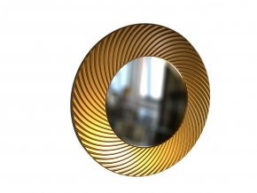kulate zrcadlo diana 50cm bronzova barva 01