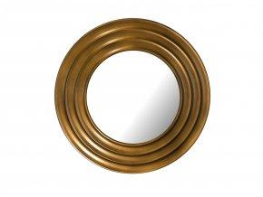kulate zrcadlo gala 50cm bronzova barva cerna patina 02