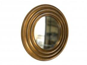 kulate zrcadlo gala 50cm bronzova barva cerna patina 01