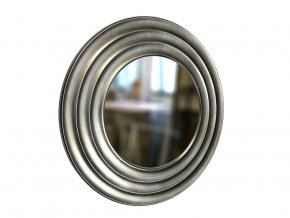 kulate zrcadlo gala 50cm stribrna barva cerna patina 01