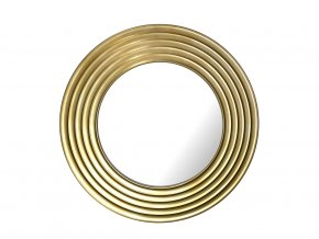 kulate zrcadlo gala 90cm zlata barva cerna patina 02