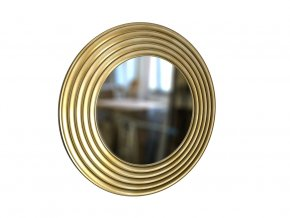 kulate zrcadlo gala 90cm zlata barva cerna patina 01