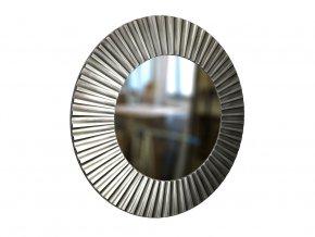 kulate zrcadlo lea 90cm stribrna barva cerna patina 01