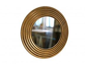 kulate zrcadlo gala 90cm bronzova barva cerna patina 01