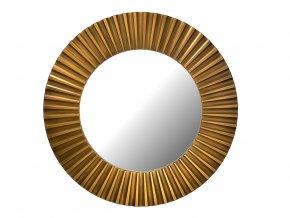 kulate zrcadlo lea 90cm bronzova barva cerna patina 02