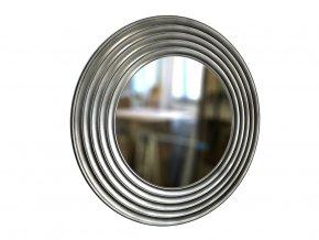 kulate zrcadlo gala 90cm stribrna barva cerna patina 01
