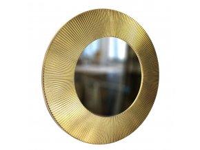kulate zrcadlo slunce 50cm zlata barva cerna patina 01