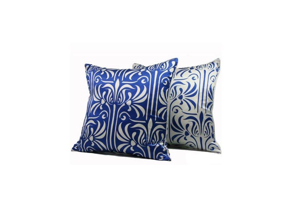 Modrý povlak polštáře Florence