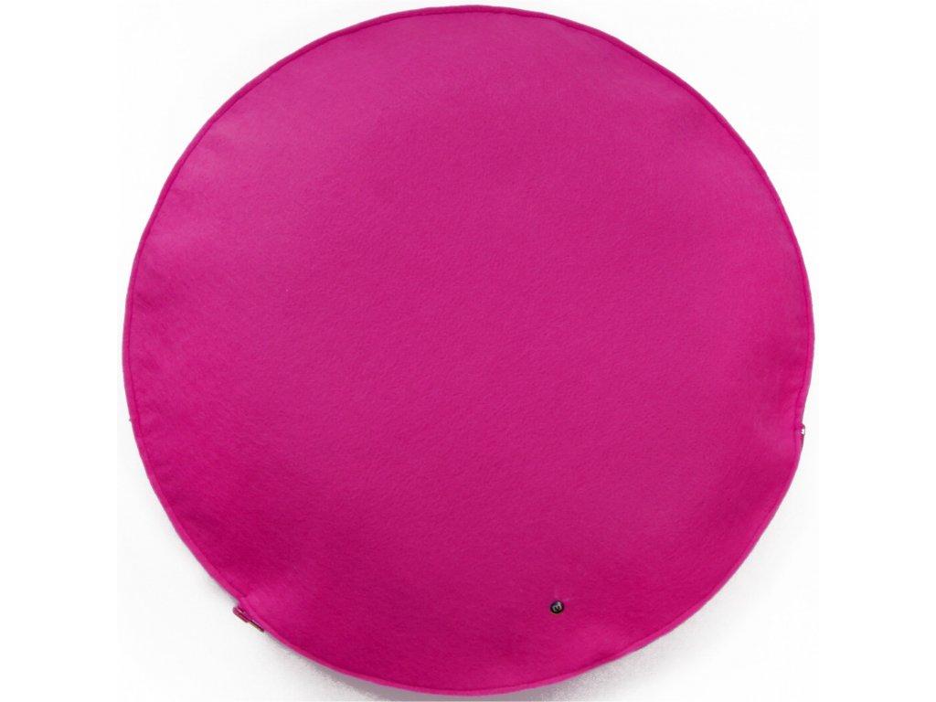 Malinový kulatý polštář Belli