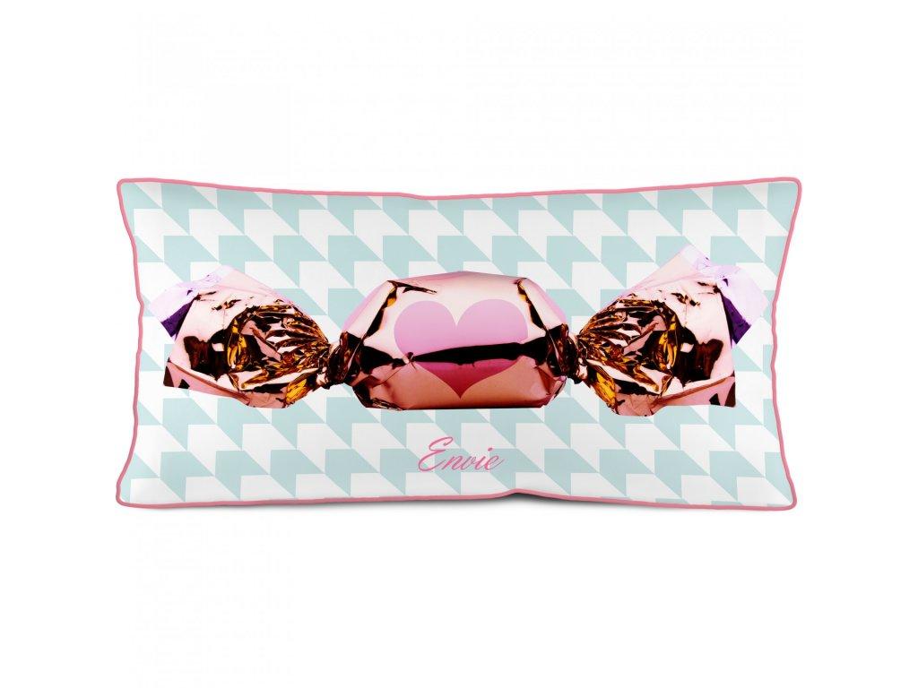 Podélný polštář bonbon Rose