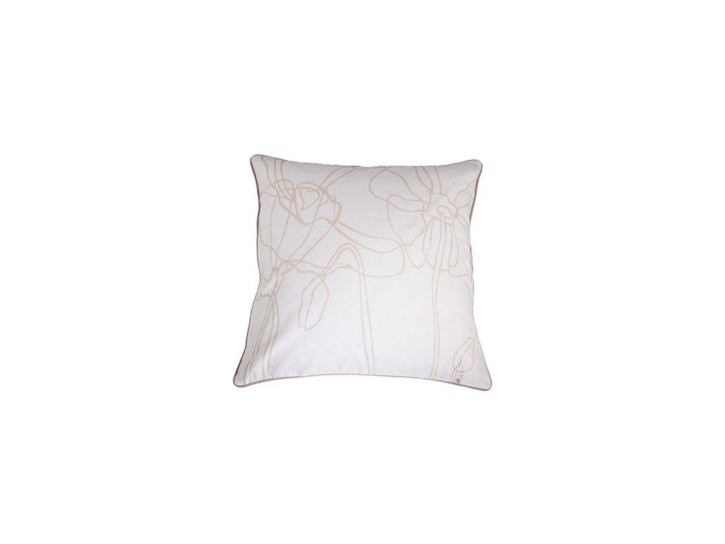 Bílý povlak polštáře Poppy