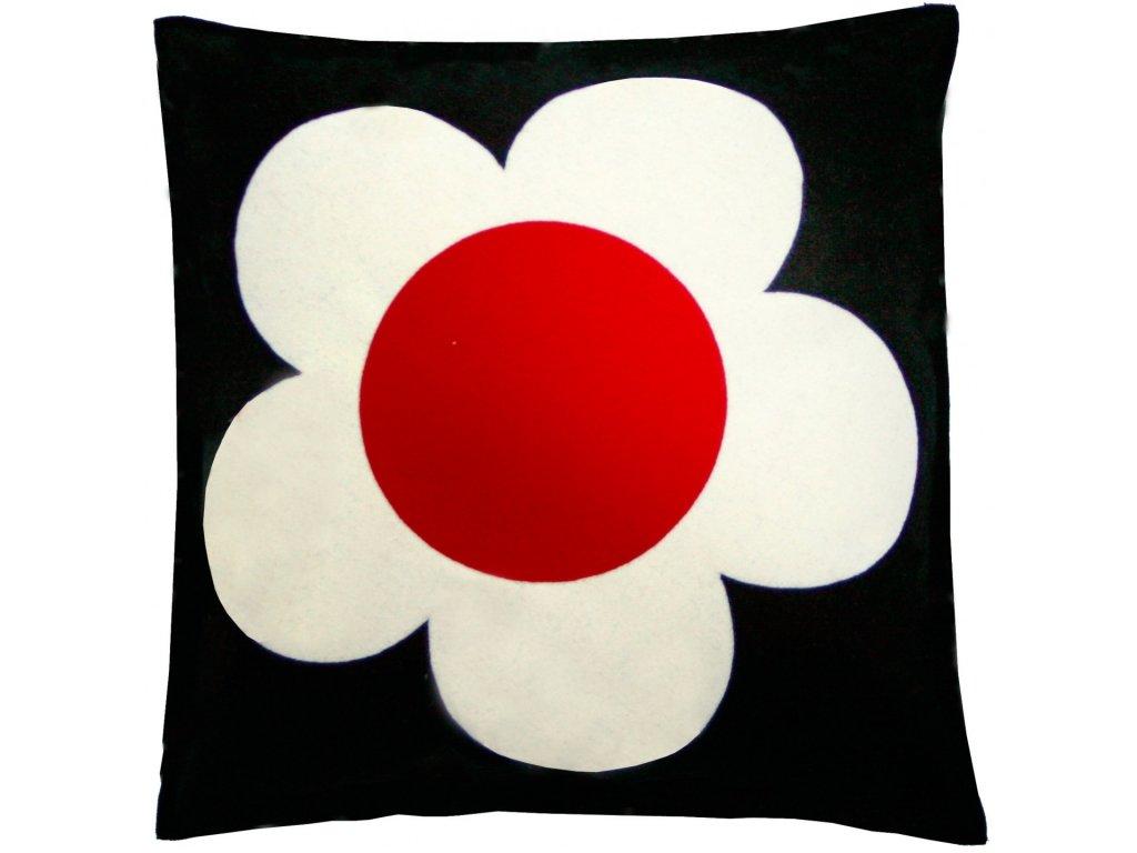 Vlněný povlak polštáře Flower