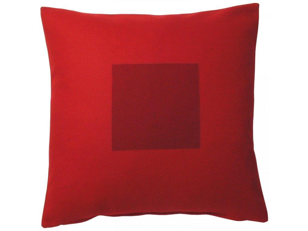 Červený povlak polštáře Kvadrat
