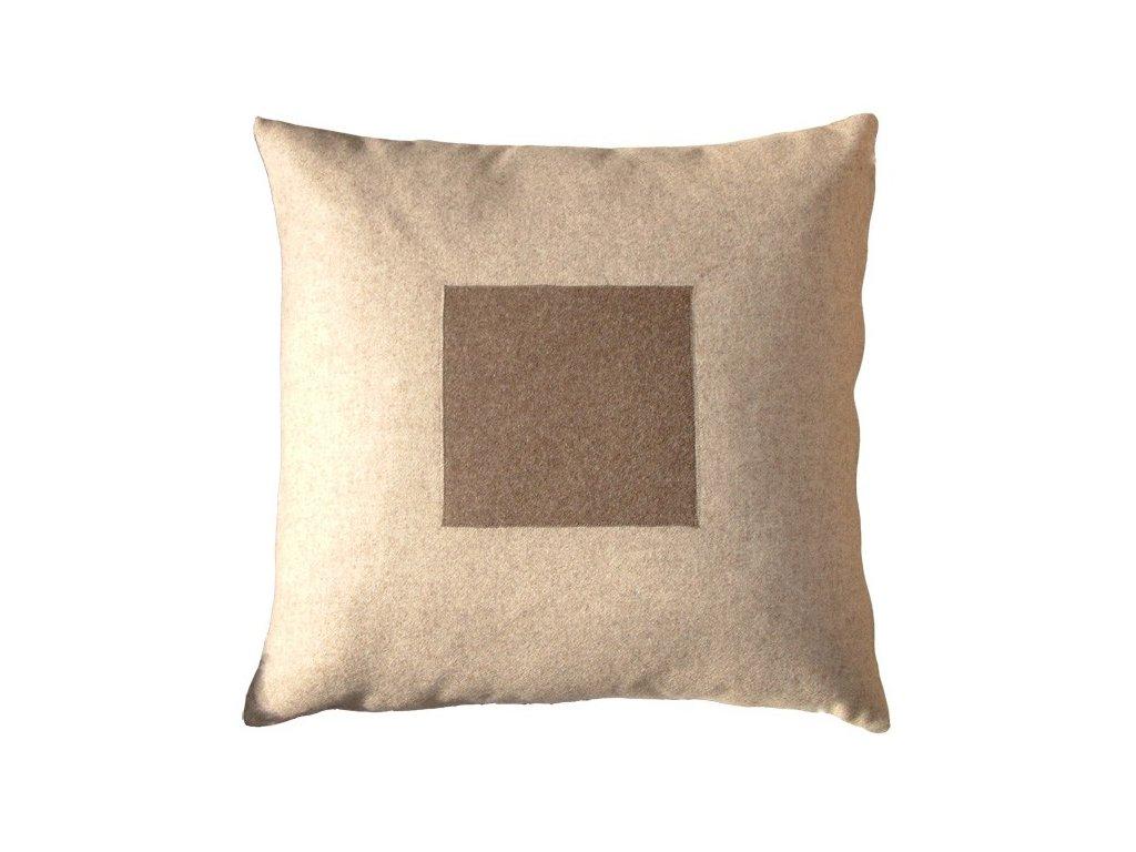 Béžový povlak polštáře Kvadrat