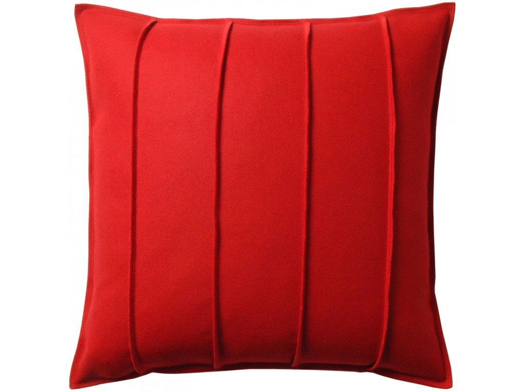 Červený vlněný polštář Ono