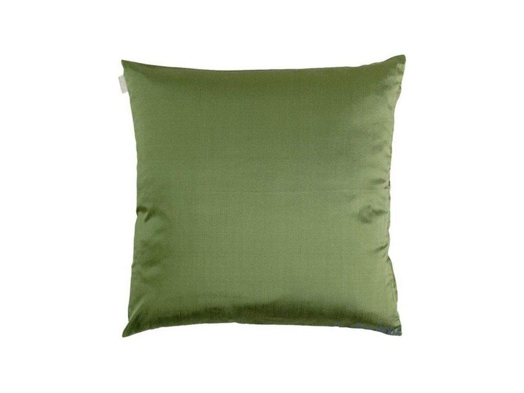 Zelený povlak polštáře Dupion