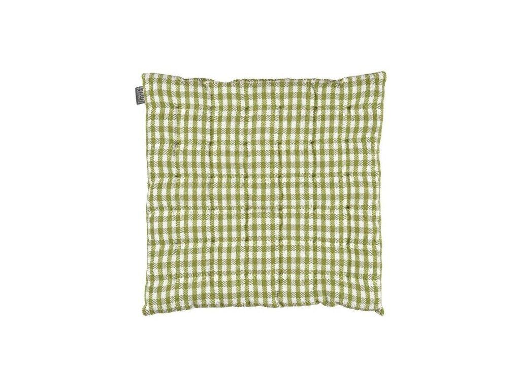 Zelený kostkovaný sedák Osby